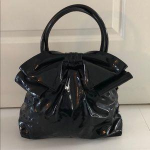 Valentino Black Patent Bow Bag